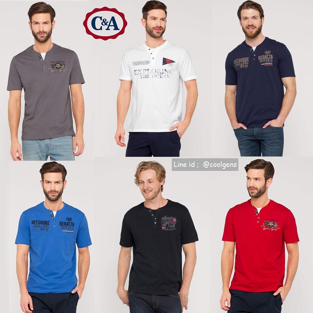 C&A T-Shirt im Lagen-Look (Bio Cotton )