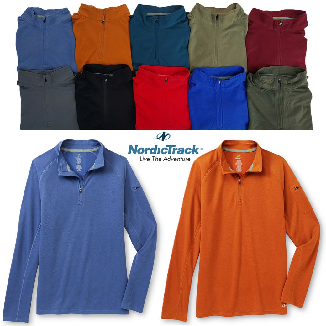 NordicTrack NT Dri & Lightweight Long-Sleeve Polo shirts