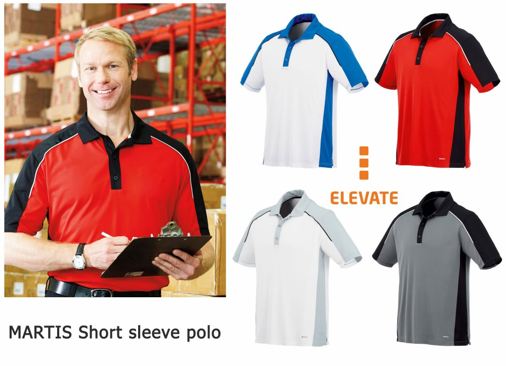 Elevate Men's Martis Short Sleeve Polo