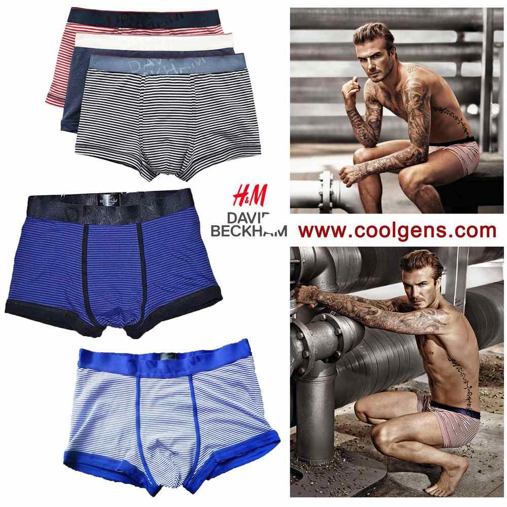 David Beckham ( H&M ) Men's Striped Boxer Briefs