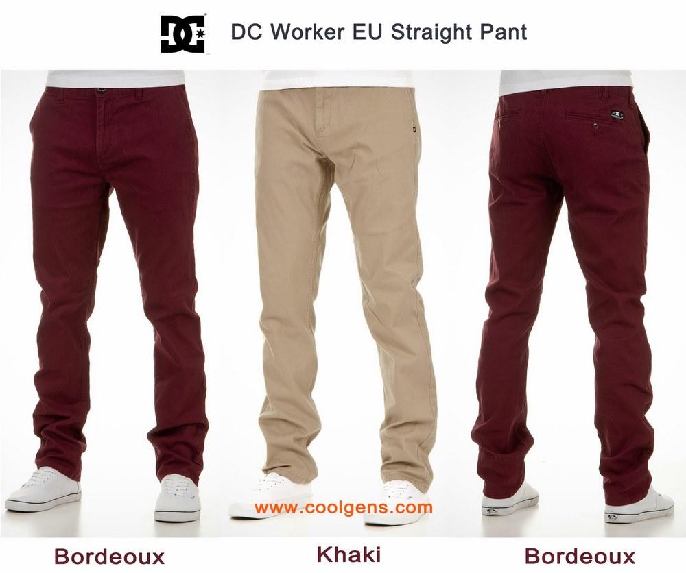 DC EU Straight Worker Pant ( เนื้อผ้ายืดหยุ่นได้ )