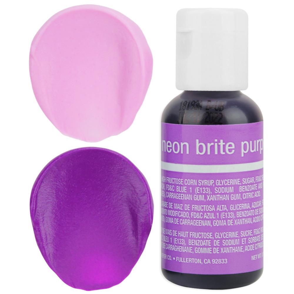 Chefmaster Neon Purple Gel Food Coloring 20ml (5259) /0.7 oz