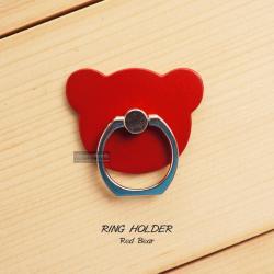 ( สำหรับลูกค้าที่สั่งซื้อสินค้า 100 บาท ขึ้นไป ไม่รวมค่าจัดส่ง) RING HOLDER แหวนมือถือ ( ป้องกันการตกหล่น ใช้เป็นขาตั้งได้ ฯลฯ ) สีแดง (BEAR)