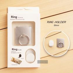 ( สำหรับลูกค้าที่สั่งซื้อสินค้า 100 บาท ขึ้นไป ไม่รวมค่าจัดส่ง) RING HOLDER แหวนมือถือพร้อมที่แขวน ( ป้องกันการตกหล่น ใช้เป็นขาตั้งได้ ฯลฯ ) สีเงิน