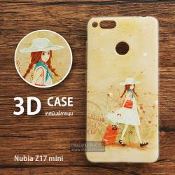 เคส Nubia Z17 mini เคสนิ่มพิมพ์ลายนูน สามมิติ 3D แบบ 4
