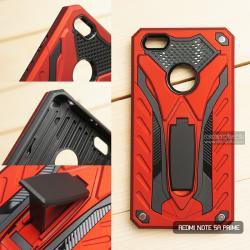 เคส Xiaomi Redmi Note 5A Prime เคสบั๊มเปอร์ กันกระแทก Defender 2 ชั้น (พร้อมขาตั้ง) สีแดง (แบบที่ 2)