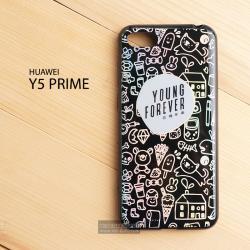 เคส Huawei Y5 Prime (2018) เคสนิ่ม TPU ขอบดำพิมพ์ลาย ผิวเงา สะท้อนแสง แบบที่ 1