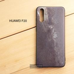 เคส Huawei P20 เคสนิ่ม TPU พิมพ์ลายนูน (ขอบดำ) แบบที่ 1