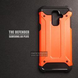 เคส Samsung Galaxy A6 Plus เคสบั๊มเปอร์ (เสริมขอบกันกระแทก) สีส้มเข้ม Hybrid Protection