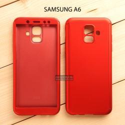 เคส Samsung Galaxy A6 เคสแข็ง 2 ส่วน ครอบคลุม 360 องศา (สีแดง)