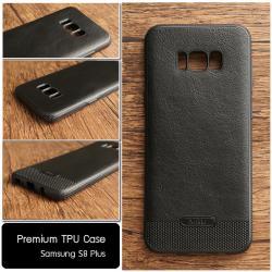 เคส Samsung Galaxy S8 Plus เคสนิ่มเกรดพรีเมี่ยม (ลายหนัง) สีดำ