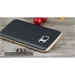 เคส Samsung Galaxy S7 เคส iPaky Hybrid Bumper เคสนิ่มพร้อมขอบบั๊มเปอร์ สีดำขอบทอง