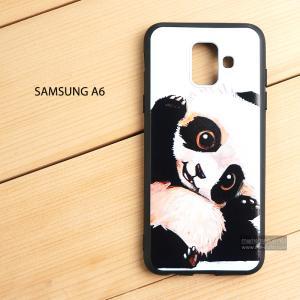 เคส Samsung Galaxy A6 เคสนิ่ม TPU พิมพ์ลาย (ขอบดำ) แบบที่ 5
