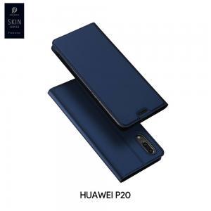 เคส Huawei P20 เคสฝาพับเกรดพรีเมี่ยม เย็บขอบ พับเป็นขาตั้งได้ สีกรมท่า (Dux Ducis)