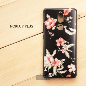 เคส Nokia 7 Plus เคสนิ่ม TPU พิมพ์ลาย (ขอบดำ) แบบที่ 1