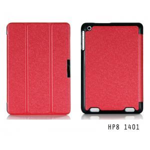 เคส HP Compaq 8 1401 เคสฝาพับ 3 ท่อน สีสันสดใส ฝาพับเป็นขาตั้งได้ (สีแดงสะท้อนแสง)