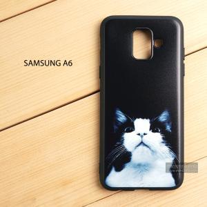 เคส Samsung Galaxy A6 เคสนิ่ม TPU พิมพ์ลาย (ขอบดำ) แบบที่ 7