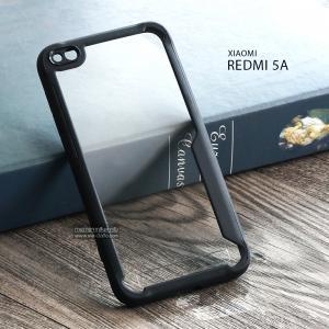 เคส Redmi 5A เคส Hybrid ฝาหลังอะคริลิคใส ขอบยางกันกระแทก แบบที่ 2 (ขอบนูนรอบกล้อง) สีดำ