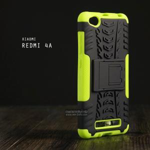 เคส Xiaomi Redmi 4A เคสบั๊มเปอร์ กันกระแทก Defender (พร้อมขาตั้ง) สีเขียวอ่อน