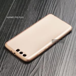 เคส Huawei P10 Plus เคสนิ่ม TPU สีเรียบ สีทอง