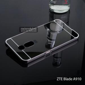 เคส ZTE Blade A910 เคสฝาหลัง + Bumper (แบบเงา) ขอบกันกระแทก สีสเปซเกรย์