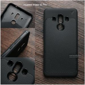 เคส Huawei Mate 10 Pro เคสนิ่ม เกรดพรีเมี่ยม ลายหนัง (ขอบนูนกันกล้อง)