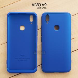 เคส Vivo V9 เคสแข็ง 3 ส่วน ครอบคลุม 360 องศา (สีน้ำเงิน - น้ำเงิน)