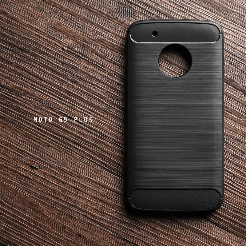 เคส Moto G5 Plus เคสนิ่มเกรดพรีเมี่ยม (Texture ลายโลหะขัด) กันลื่น ลดรอยนิ้วมือ สีดำ