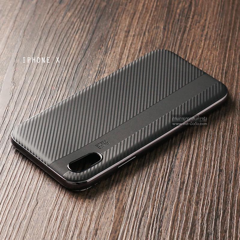 เคส iPhone X เคส Hybrid เกรดพรีเมี่ยม (เสริมขอบกันกระแทก สีดำ)