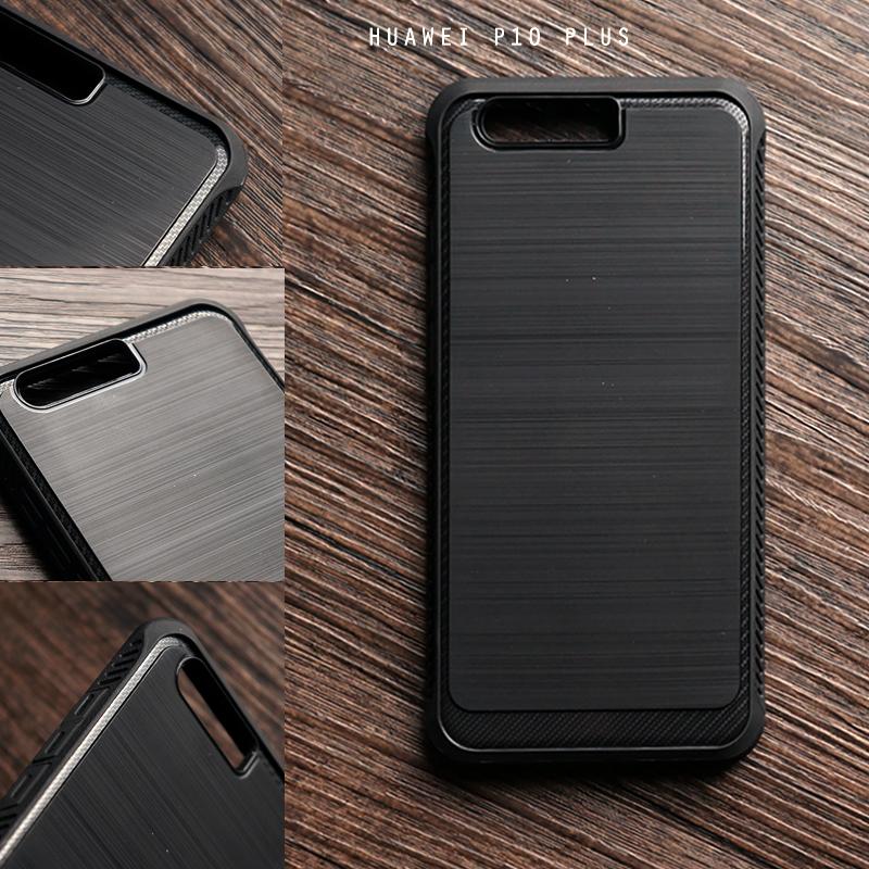 เคส Huawei P10 Plus เคส Hybrid + ขอบกันกระแทก ลดรอยนิ้วมือบนเคส สีดำ (BLACK BUMPER)