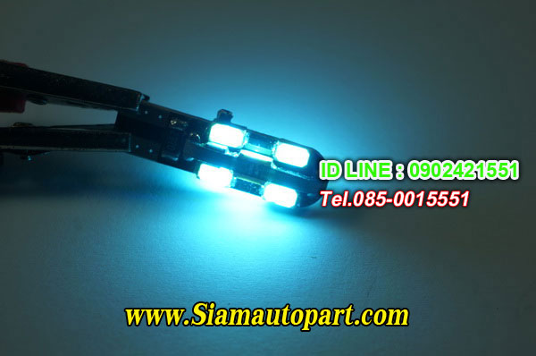 LED-T10-5730-12SMD แสงสี Ice blue