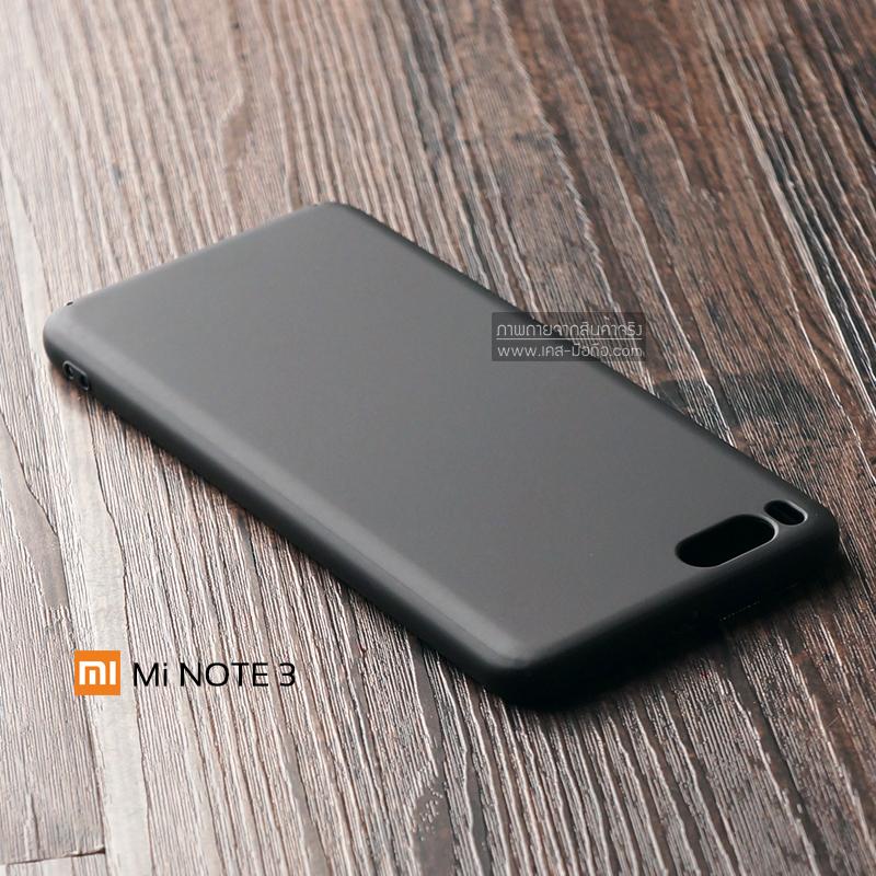 เคส Xiaomi Mi Note 3 เคสแข็งสีเรียบ คลุมขอบ 4 ด้าน สีดำ