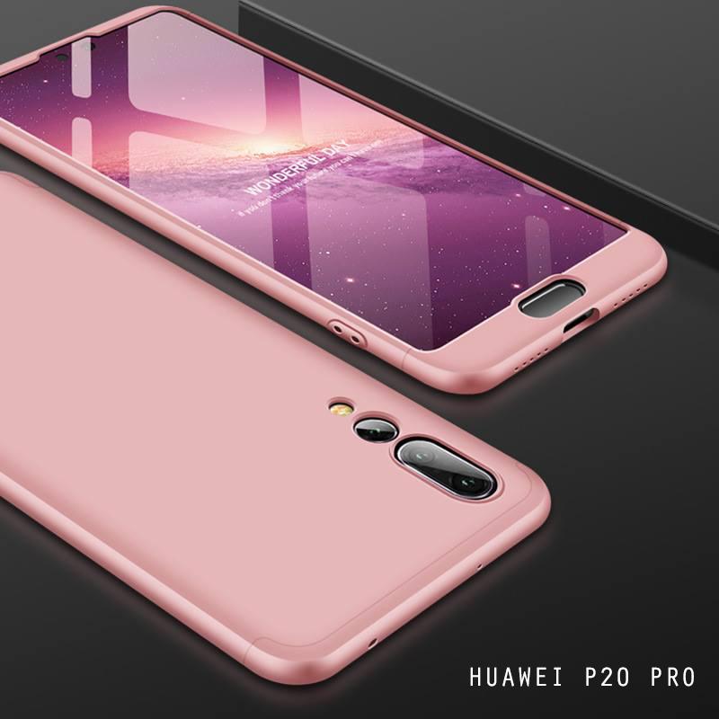 เคส Huawei P20 PRO เคสแข็งแบบ 3 ส่วน ครอบคลุม 360 องศา (สีโรสโกลด์ - โรสโกลด์)