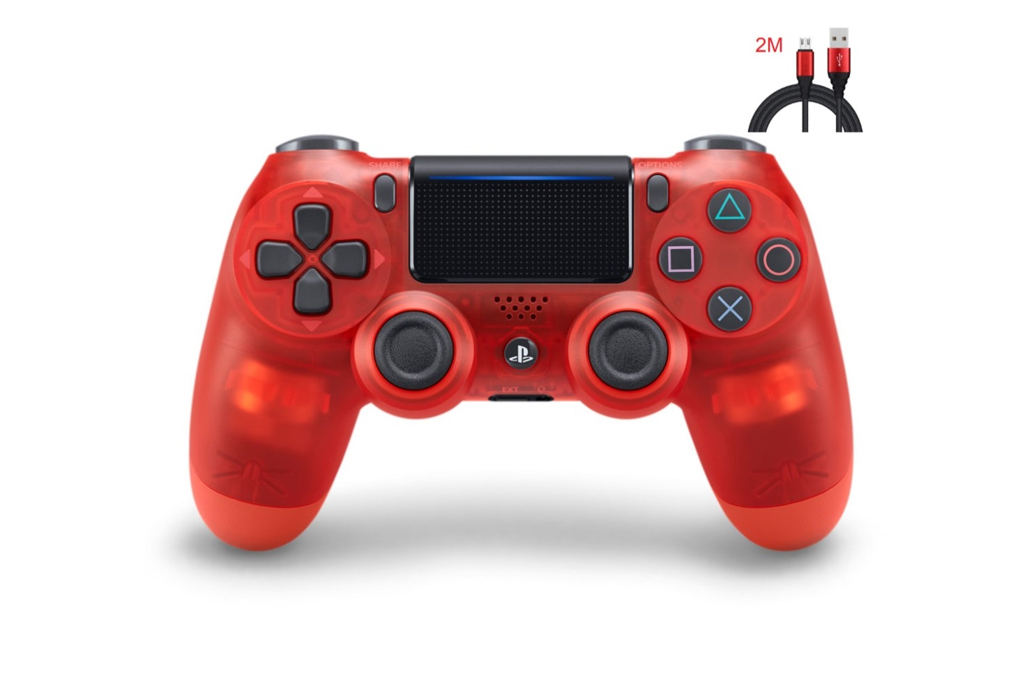 New PS4 Controller : Dual Shock 4 Red Crystal