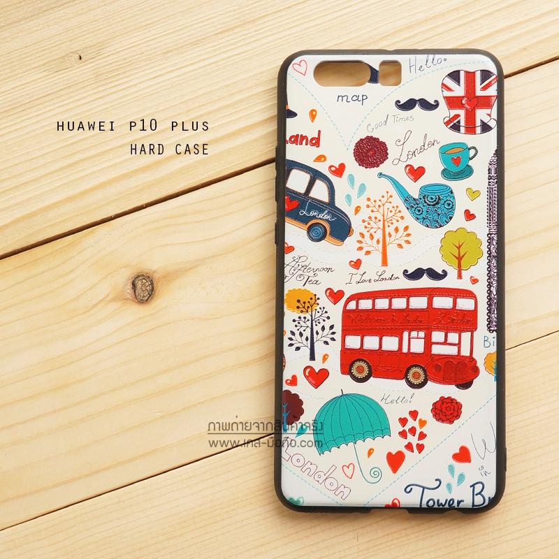 เคส Huawei P10 Plus เคสขอบนิ่มสีดำ ฝาหลังอะคริลิค พิมพ์ลาย ลายที่ 1 I Love London