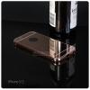 เคส iPhone 5 / 5S l เคสฝาหลัง + Bumper (แบบเงา) ขอบกันกระแทก สีโรสโกลด์