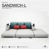 โซฟาเบดเข้ามุม รุ่น SANDWICH L (ปรับขนาดได้ตามพื้นที่) Sofa Bed ปรับนอนได้ ขนาดมาตรฐาน 230x195x80 cm
