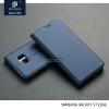 เคส Samsung Galaxy S7 EDGE เคสฝาพับเกรดพรีเมี่ยม (เย็บขอบ) พับเป็นขาตั้งได้ สีกรมท่า (Dux Ducis)