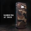 เคส Samsung Galaxy A7 (2016) กรอบบั๊มเปอร์ กันกระแทก Defender ลายทหาร สีน้ำตาล
