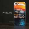 เคส iPhone 5 / 5S / SE เคส TPU พื้นผิวเงาสะท้อน (Blu-ray Series) แบบที่ 6 I will follow you into the dark