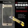 (มีกรอบ 3D แบบคลุมขอบ) กระจกนิรภัย-กันรอยแบบพิเศษ ขอบมน 2.5D (iPhone 6 Plus) ความทนทานระดับ 9H สีทอง