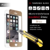 """(มีกรอบ) กระจกนิรภัย-กันรอยแบบพิเศษ ขอบมน 2.5D (iPhone 6/6s 4.7"""" นิ้ว) ความทนทานระดับ 9H สีทอง"""