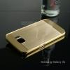 เคส Samsung Galaxy S6 เคสฝาหลัง + Bumper แบบเงา ขอบกันกระแทก สีทอง (แบบ Luxury)