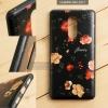 เคส Huawei GR5 2017 เคสอะครีลิค ขอบยางสีดำ พิมพ์ลายนูน (Flower) สีดำ