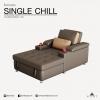 โซฟาเดย์เบด รุ่น SINGLE CHILL Sofa DayBed ปรับนอนได้ ขนาดมาตรฐาน 100x2000x95 cm