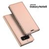 เคส Samsung Galaxy Note 8 เคสฝาพับเกรดพรีเมี่ยม เย็บขอบ พับเป็นขาตั้งได้ สีโรสโกลด์ (Dux Ducis)