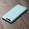 เคส Huawei P10 เคสแข็งสีเรียบ คลุมขอบ 4 ด้าน สีฟ้า (แถบสีเงิน บน-ล่าง)