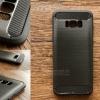 เคส Samsung Galaxy S8 Plus เคสนิ่มเกรดพรีเมี่ยม (Texture ลายโลหะขัด) กันลื่น ลดรอยนิ้วมือ สีดำ