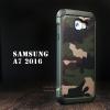 เคส Samsung Galaxy A7 (2016) กรอบบั๊มเปอร์ กันกระแทก Defender ลายทหาร สีเขียว