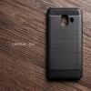 เคส Samsung Galaxy C10 เคสนิ่มเกรดพรีเมี่ยม (Texture ลายโลหะขัด) กันลื่น ลดรอยนิ้วมือ สีดำ